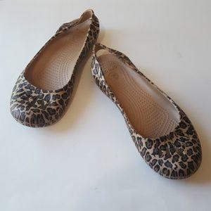 Crocs Leopard Design Rubber Sjhoes Size 9 W
